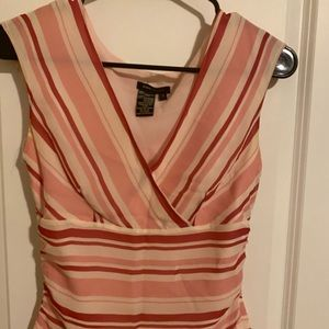bcbg maxazria striped sleeveless top